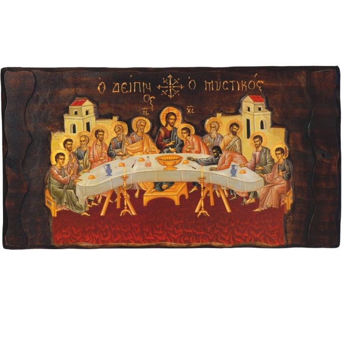 WOODEN ICON LAST SUPPER K4 MD