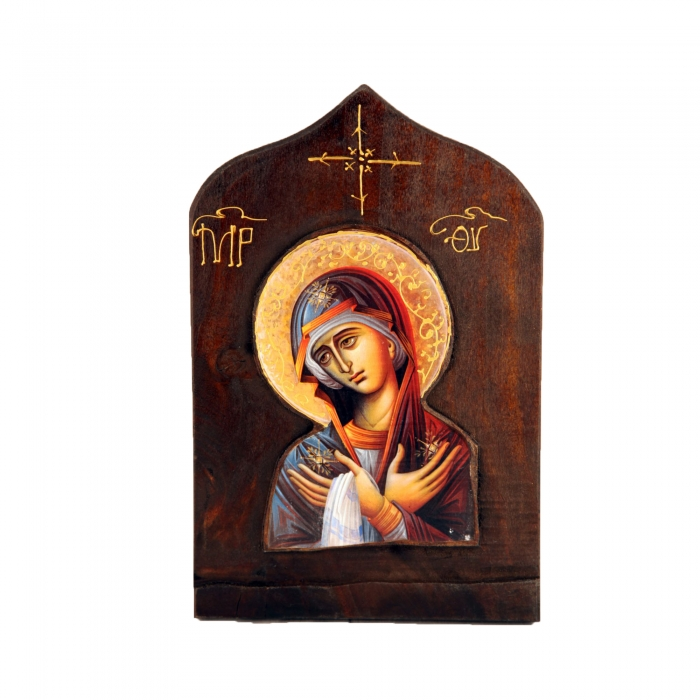 WOODEN ICON WITH VIRGIN MARY OMEGA 3