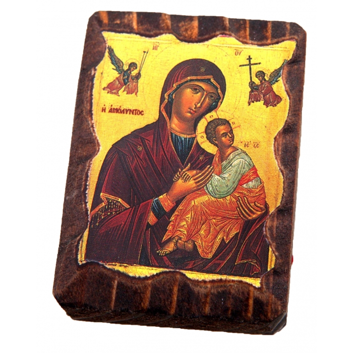BOMBONNIERE MINI LITHOGRAPHY no.5 VIRGIN MARY & JESUS CHRIST