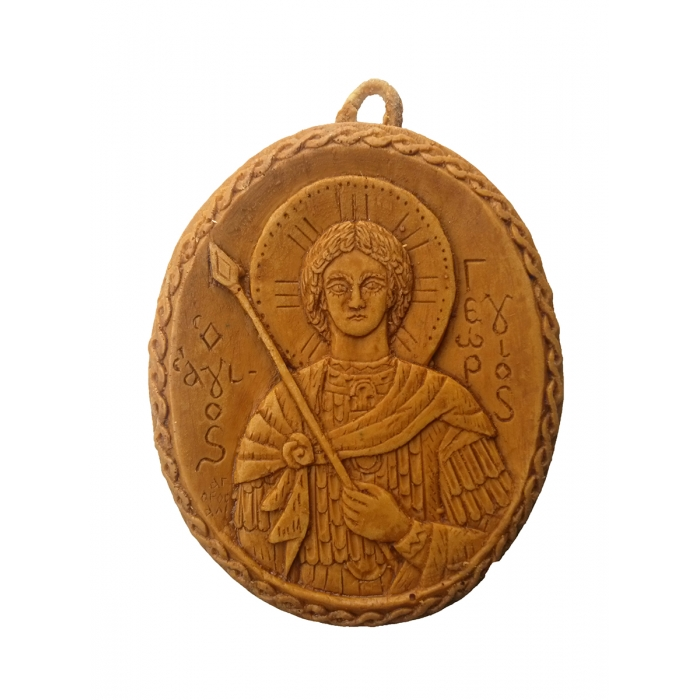 MONASTIC WAX ICON SAINT GEORGE 7x6cm
