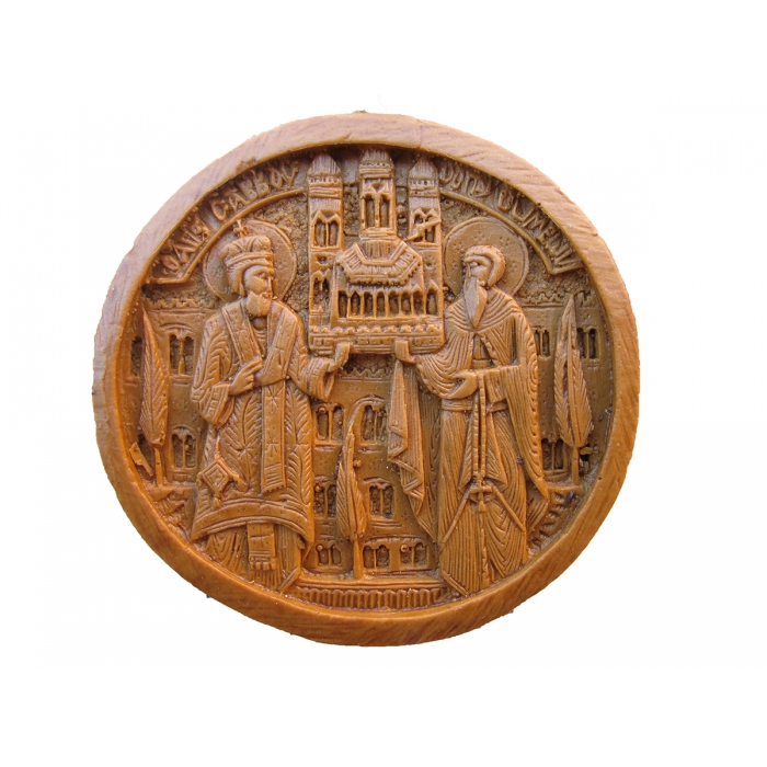 MONASTIC WAX ICON OF MONASTIC BELT BUCKLE