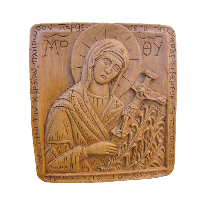 MONASTIC WAX ICON VIRGIN MARY - LADY OF DEATH