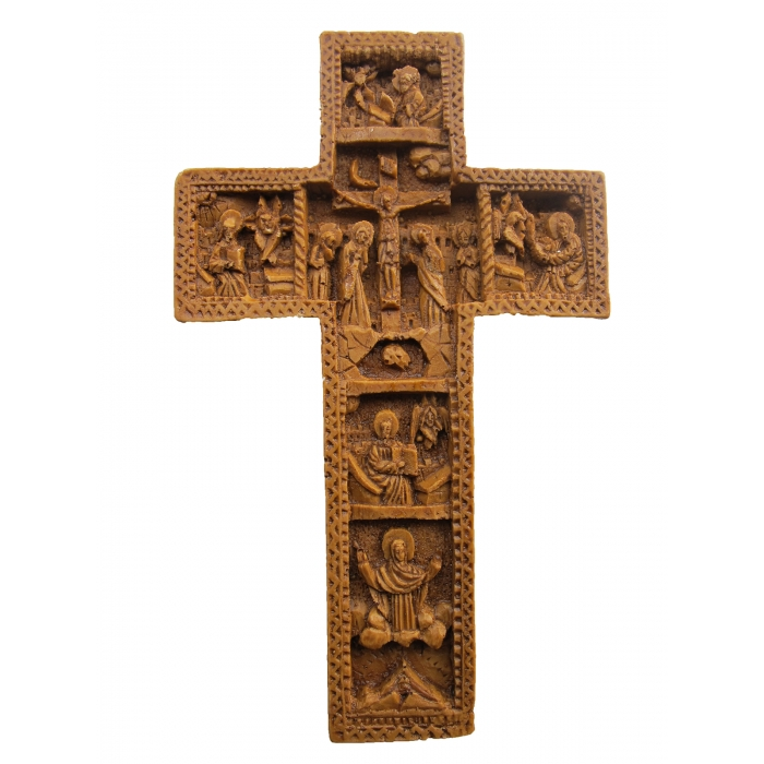 MONASTIC CARVED WAX CROSS AMPELOS 8x13 cm
