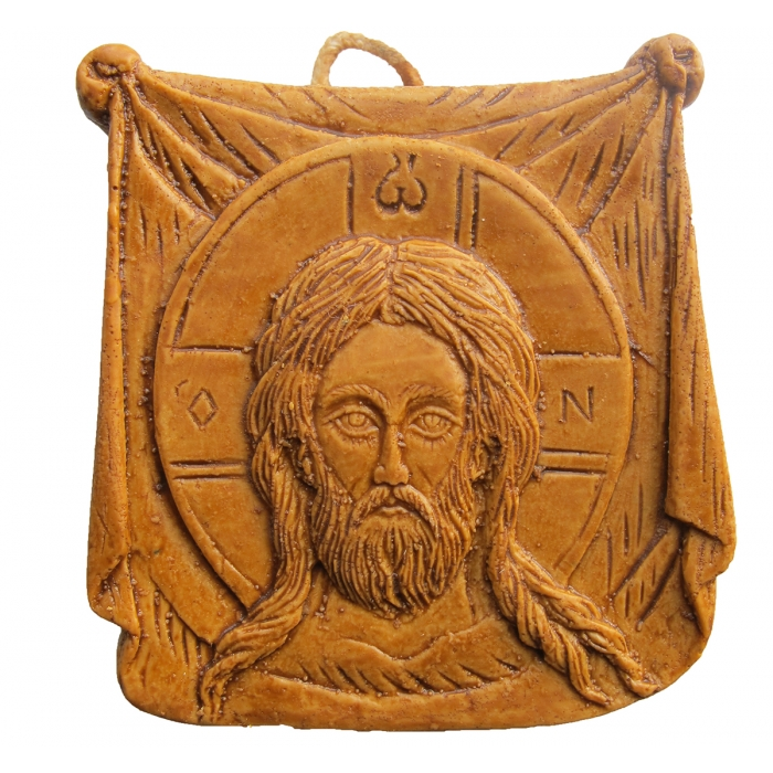 MONASTIC WAX ICON HOLY HANDKERCHIEF 1 7x7 cm