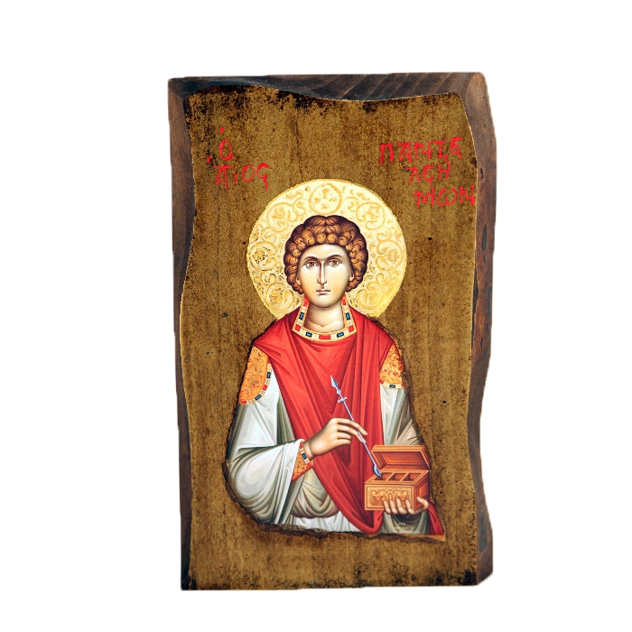 WOODEN ICON SAINT PANTELEIMON F2