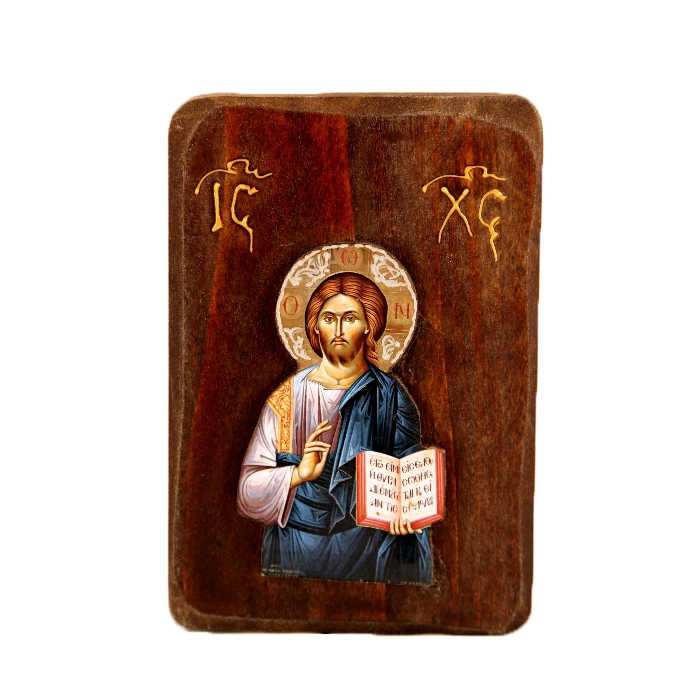 WOODEN ICON WITH JESUS CHRIST R1
