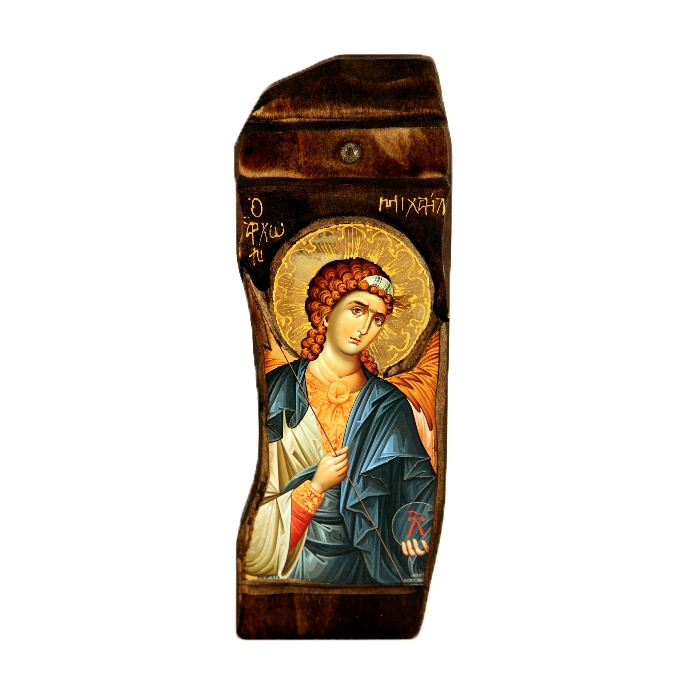 WOODEN ICON WITH ARCHANGEL MICHAEL N18P