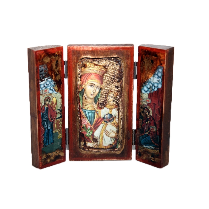 WOODEN ICON WITH VIRGIN MARY TP