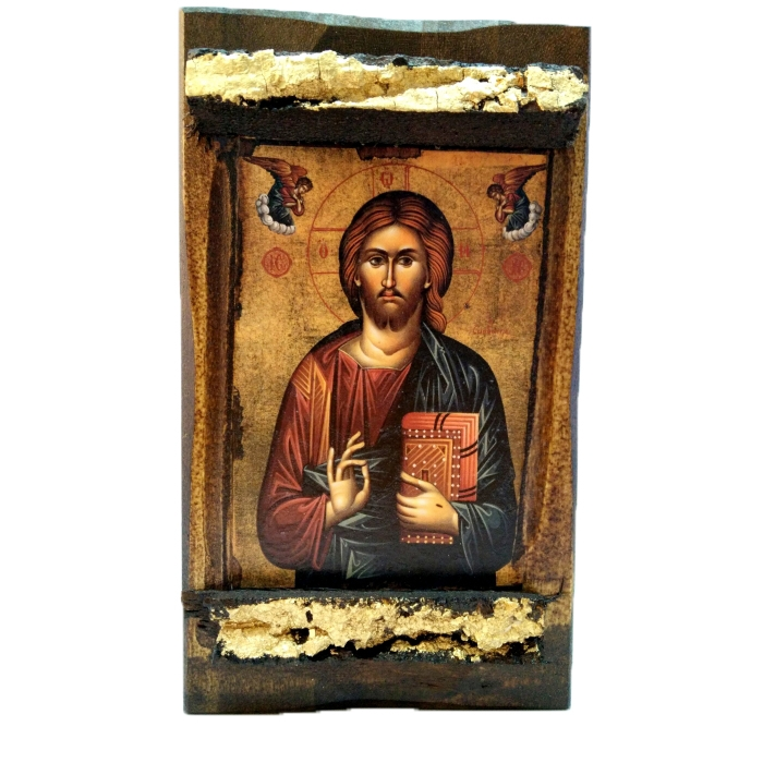 BOMBONNIERE WOODEN ICON MP3/4 JESUS CHRIST