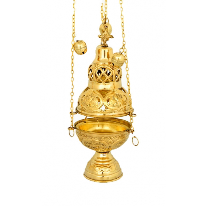BRONZE GOLD PLATED CHURCH CENSER (201G)