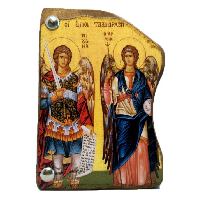 WOODEN ICON MP4/3 ARCHANGEL GABRIEL & MICHAEL