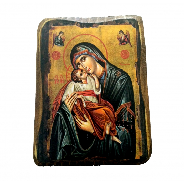 ICON OF vIRGIN MARY & JESUS CHRIST A0