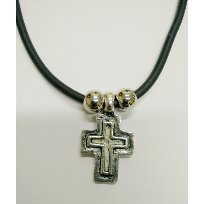 METALLIC CROSS PENDANT no.15