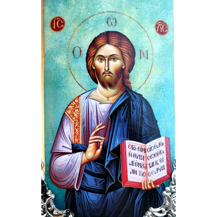WOODEN ICON JESUS CHRIST K30 20x9 cm