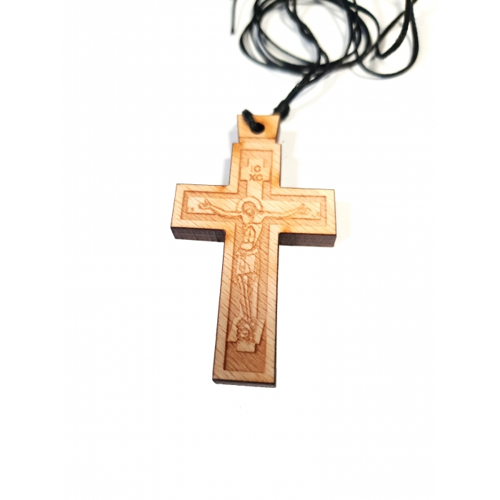 WOODEN CROSS PENDANT no.62