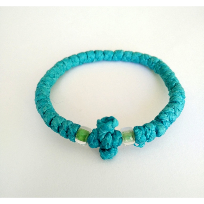 PRAYER ROPE LIGHT BLUE THICK