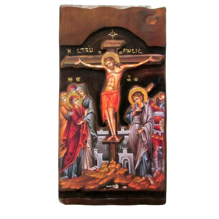 WOODEN ICON K4 CRUCIFIXION