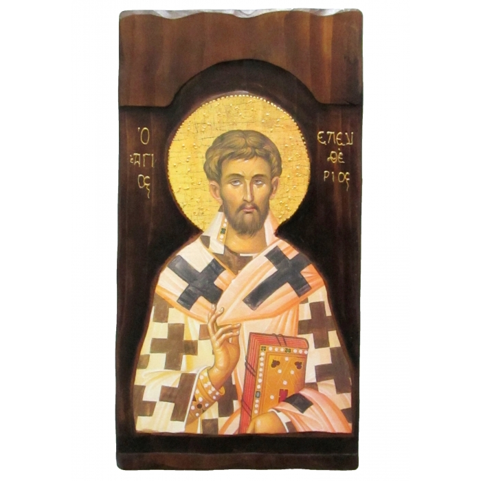 WOODEN ICON K4 SAINT ELEFTHERIOS 52x28 cm