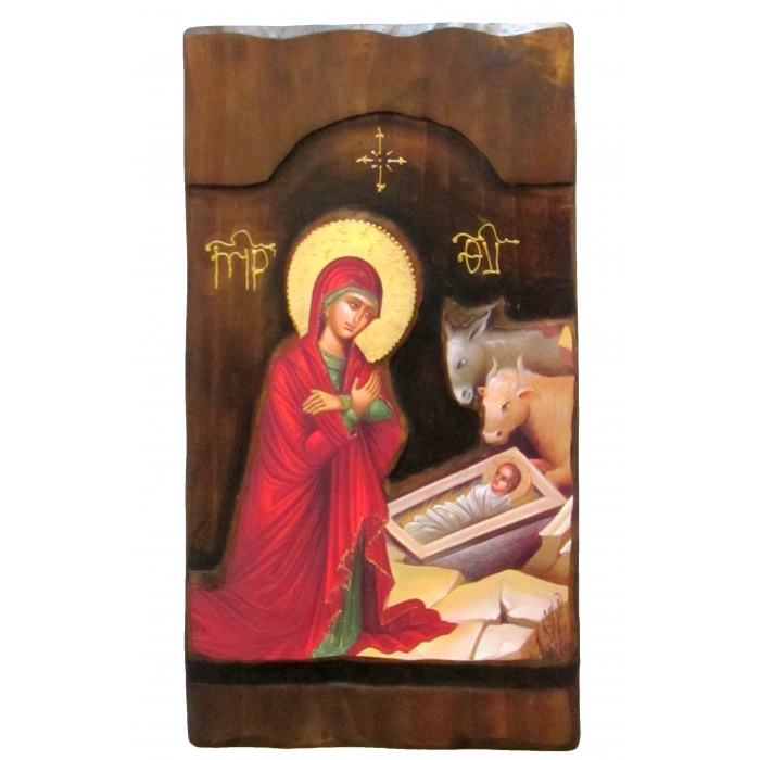 WOODEN ICON K4 JESUS CHRIST GENESIS 52x28 cm