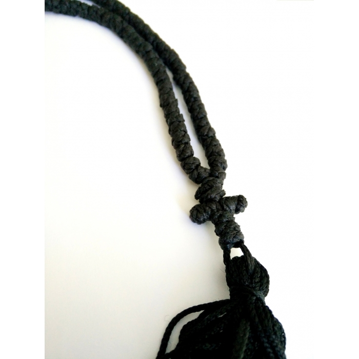 PRAYER ROPE 150 KNOTS BLACK WAXED