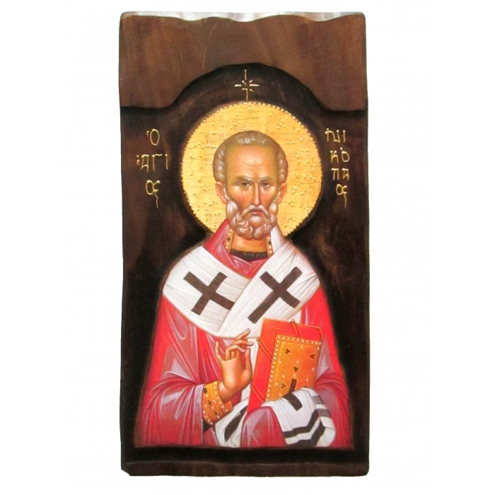 WOODEN ICON K4 SAINT NICHOLAS 52x28 cm