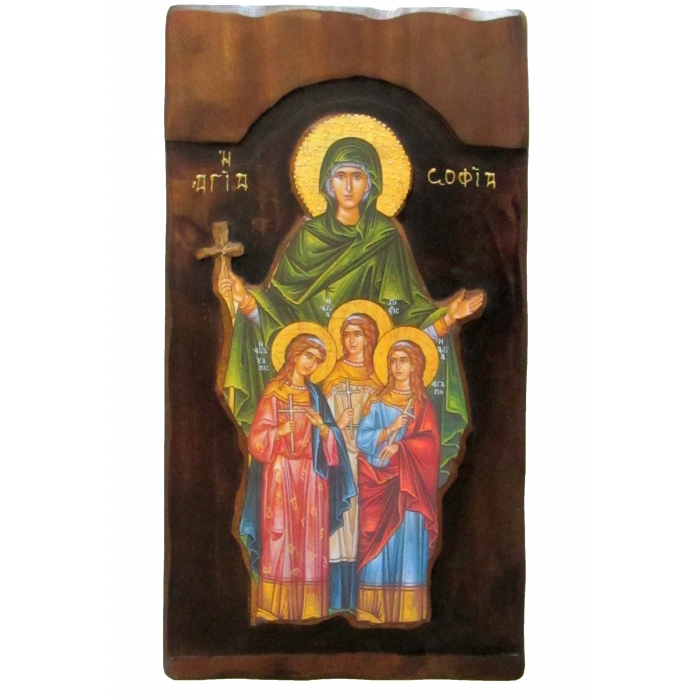 WOODEN ICON K4 SAINT SOFIA 52x28 cm