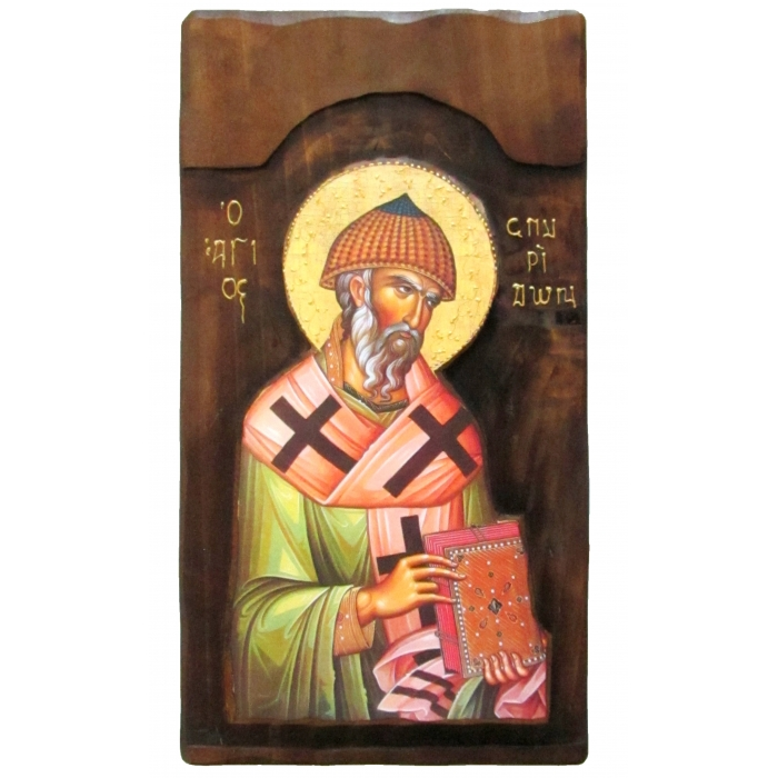 WOODEN ICON K4 SAINT SPYRIDON 52x28 cm