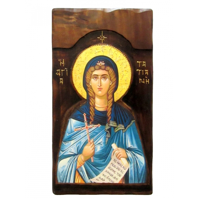 WOODEN ICON K4 SAINT TATIANI