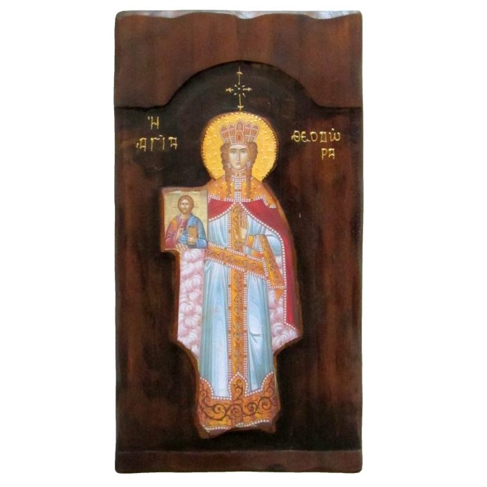 WOODEN ICON K4 SAINT THEODORA 52x28 cm