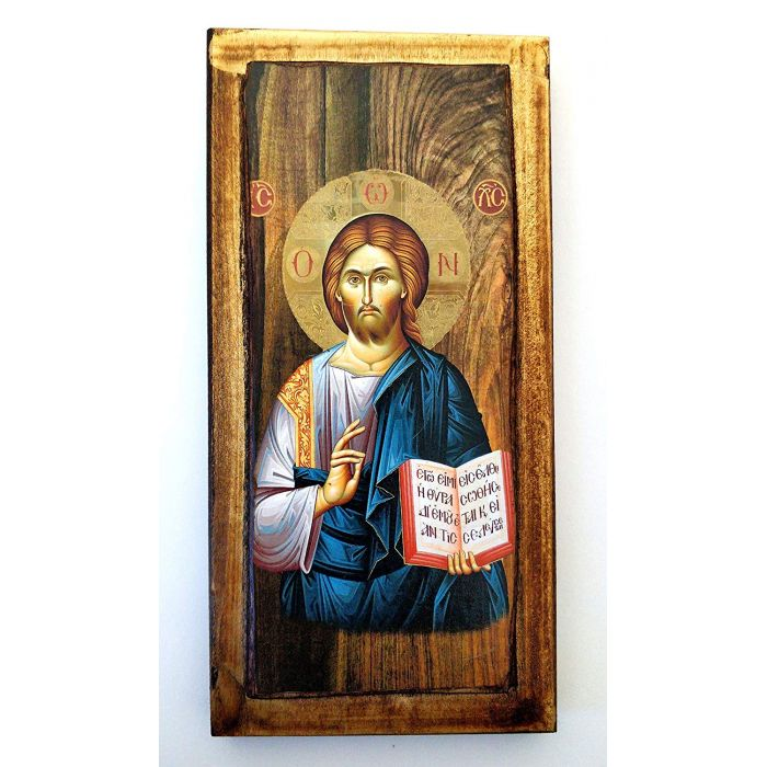 WOODEN ICON JESUS CHRIST H3 30x14 cm