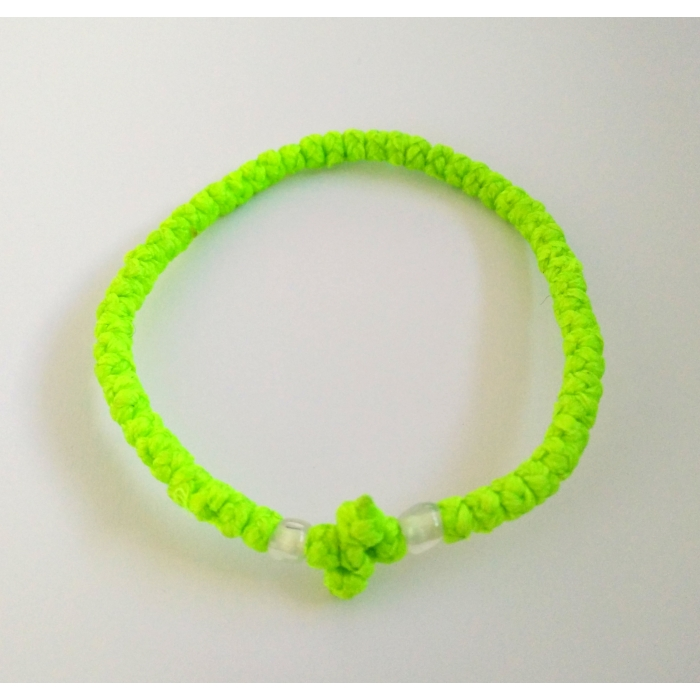 PRAYER ROPE THIN LIGHT GREEN
