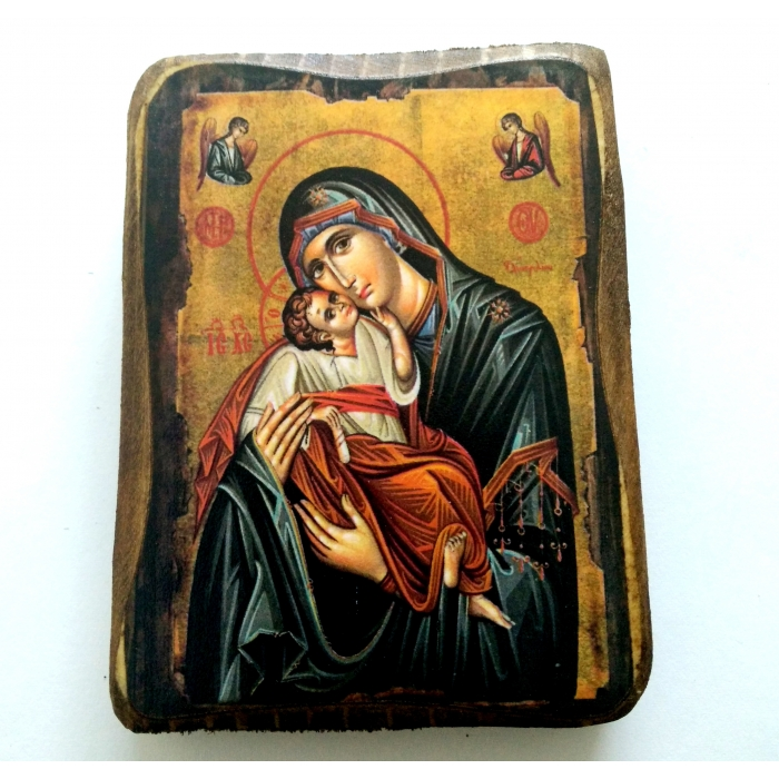 BOMBONNIERE ICON OF vIRGIN MARY & JESUS CHRIST A0