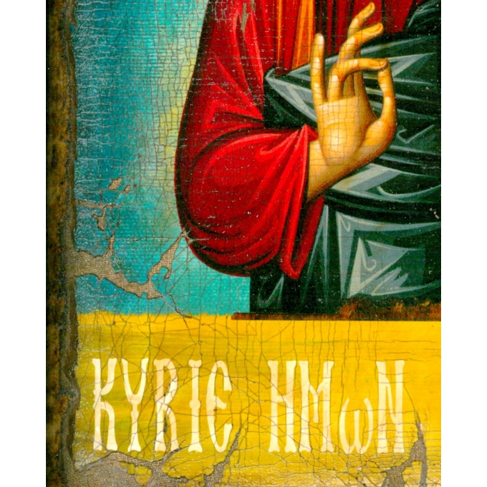 WOODEN ICON WITH JESUS CHRIST ON PAINTING CANVAS M3