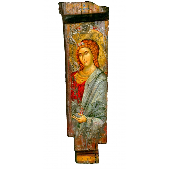 WOODEN ICON WITH ARCHANGEL GABRIEL ON PAINTING CANVAS M22B