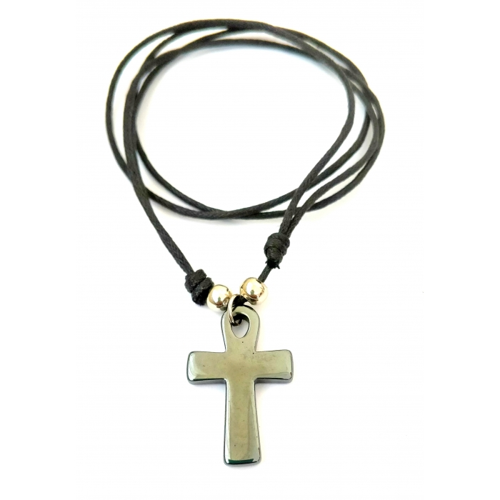 HEMATITE CROSS PENDANT no.16