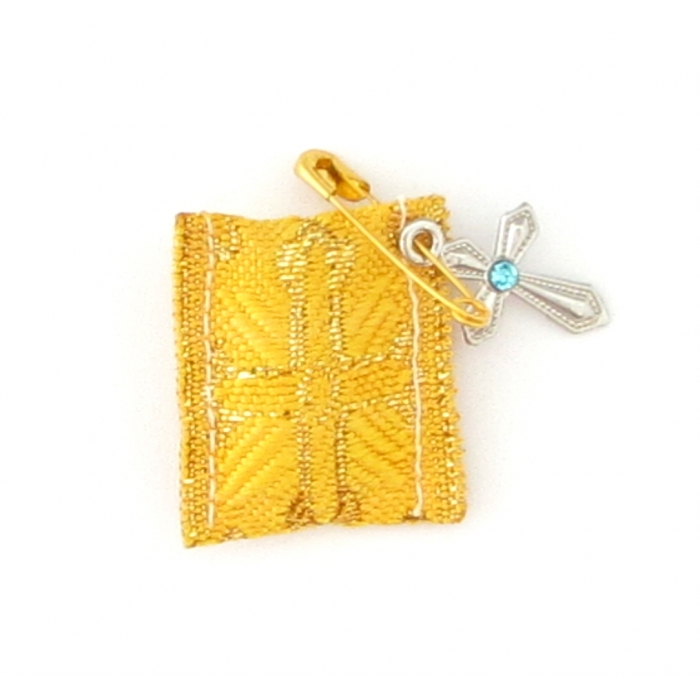TALISMAN WITH CROSS YELLOW - GOLD