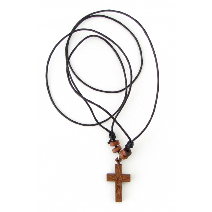 WOODEN CROSS PENDANT no.19