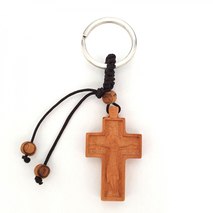 TWO SIDED CROSS KEYRING / 4
