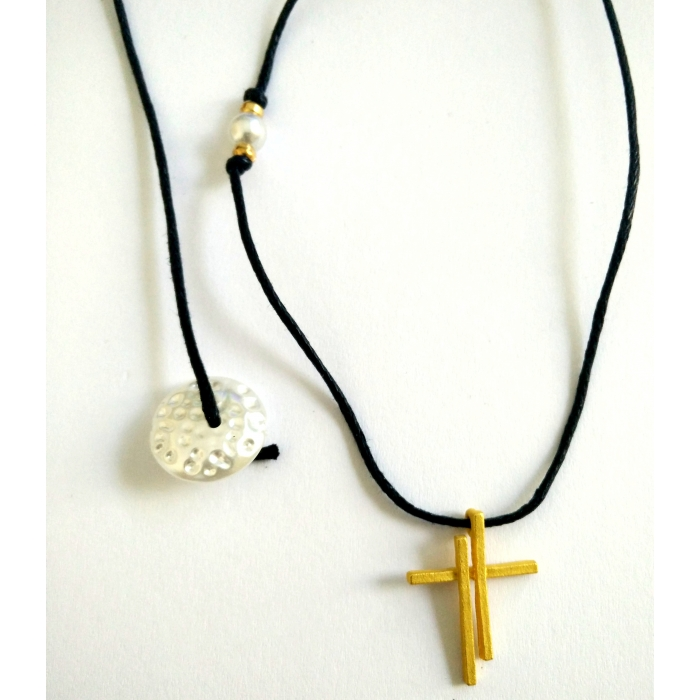 WOMENS METALLIC CROSS PENDANT no.30