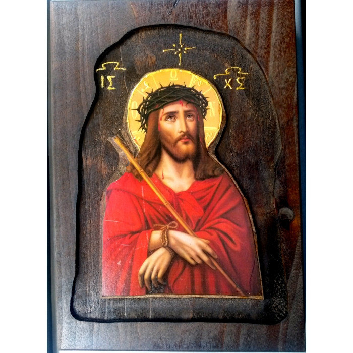WOODEN ICON D2 JESUS CHRIST