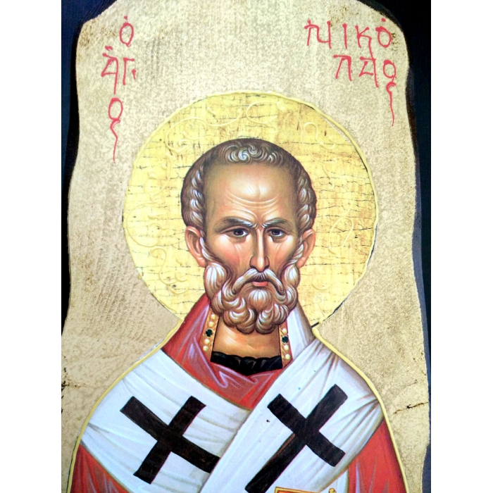 WOODEN ICON 4PO - SAINT NIKOLAOS