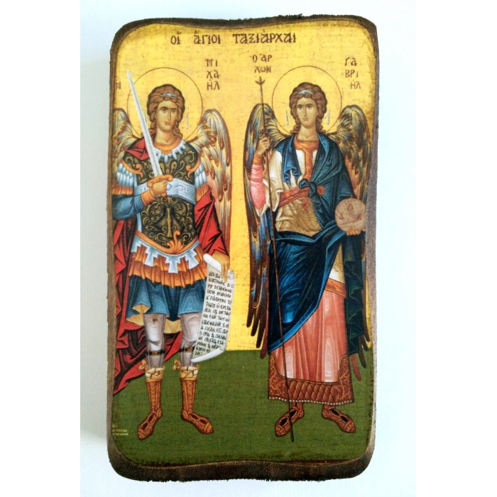 BOMBONNIERE ICON OF ARCHANGEL MICHAEL AND GABRIEL A0