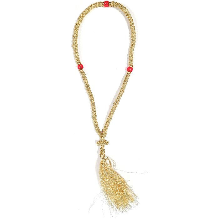 PRAYER ROPE 100 KNOTS GOLD THREAD 2