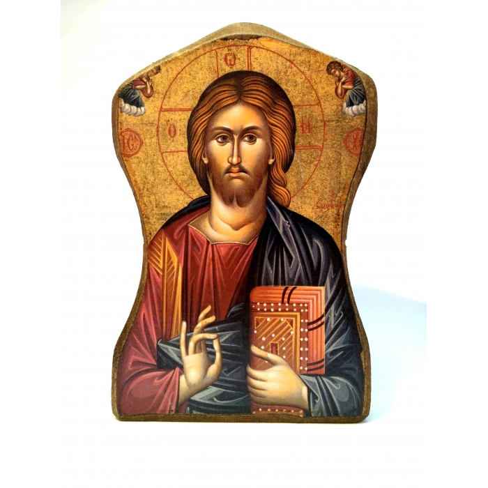 BOMBONNIERE WOODEN ICON OF JESUS CHRIST MP1