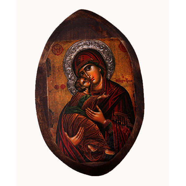 BOMBONNIERE WOODEN ICON MP0 VIRGIN MARY & JESUS CHRIST
