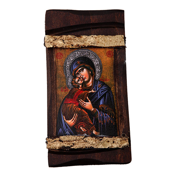 WOODEN ICON MP3/1 VIRGIN MARY & JESUS CHRIST